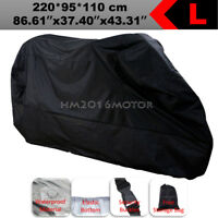 L Waterproof Motorcycle Cover For Honda CBR 250R 300R 500R 900 1000 RR Black