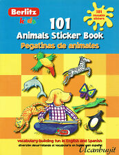 101 ANIMALS to learn SPANISH & ENGLISH Reusable Bilingual Activity Book Ages 3+