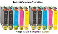 10x XL cartuchos para Epson dx8400 dx4050 dx4400 dx4450 dx5000 dx5050 d120 sx610