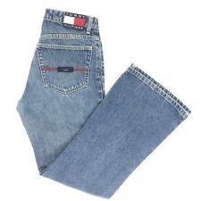 Tommy Hilfiger Womens Jr Jeans 9 Zig Zag Hipster Flare Logo Color Block