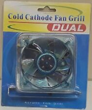 Dual Cold Cathode 80mm Internal PC PCI Slot Fan Ultra Violet
