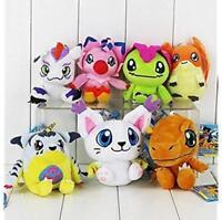 Digimon Plush Palmon Agumon Patamon Tailmon Gabumon Gomamon 7pcs Doll