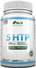 NU U Nutrition 5-HTP 200mg Double Strength 180 Tablets 6 Month Supply