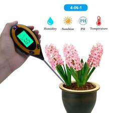 4 In1 Garden Soil Tester LCD Digital Temperature Sunlight Moisture PH Test Meter