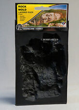 WOODLAND SCENICS ROCK MOLD LAYERED ROCK O HO N O GAUGE train scene WDS 1241 NEW