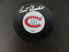 Bert Olmstead Signed Official Canadiens Puck Autograph Auto PSA/DNA Z42769