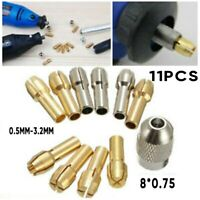 Screw Collet Nut Kit + 1pc Quick Change Tools Part Power Rotary for Dremel 10Pcs