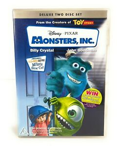 Monsters, Inc. (DVD, 2001) Billy Crystal Deluxe 2-Disc Set Region 4 Free Postage