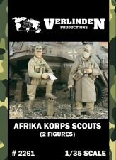 Verlinden 1:35 Afrika Korps Scouts - 2 Resin Figures Kit #2261