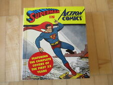 Superman en Action Comics featuring the complete covers of first 25 Years