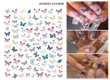 Butterfly Nails Art Manicure Back Glue Decal Decorations Nail Stickers