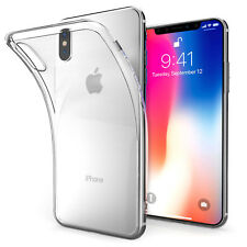 New iPhone X Clear Silicone ShockProof Thin Protective Hybrid TPU Gel Soft Case