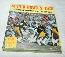 Super Bowl X 1976 Steelers Cowboys 8mm Reel to Reel Film Complete in Box CIB