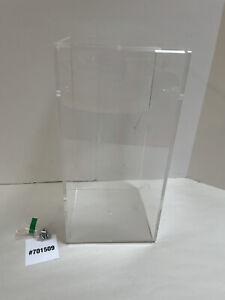 Clear Acrylic Display Case/Box. New. 12 X 6 Three Sided