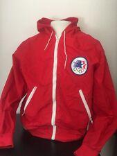 Vintage LA 1980 Olympic Jacket LEVIS SZ LTeam USA Los Angeles EUC RED Coat