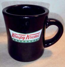 Krispy Kreme Doughnuts Logo Black Coffee Mug Advertising Diner Restaurant Cafe