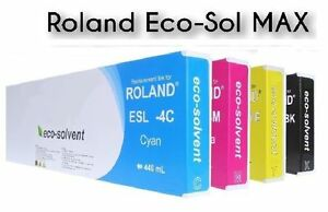 4 INK for ROLAND VersaCAMM SP-300V SP-540V VS-540 / Eco Solvent INK ESL3 440ml
