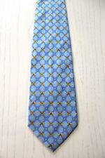 ERMENEGILDO ZEGNA Krawatte Tie hellblau kariert geblümt Seide Luxus (G1/14)