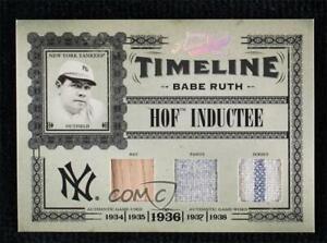 2005 Playoff Prime Cuts Materials Triple 1/1 Bat/Jersey Babe Ruth #T-21 HOF