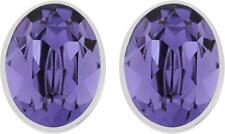 Swarovski Bis Pierced Earrings Oval Tanz Purple