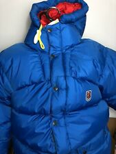 NEW FJALLRAVEN Expedition Down Jacket Men's XL Ice Blue W/Stuff Sack MSRP $700