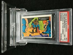 A&BC 1968 SUPERMAN IN THE JUNGLE UNCONSCIOUS SUPERMAN #37 EX-MINT 6 - garno PSA