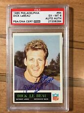 Dick LeBeau 1965 Philadelphia #64 Signed HOF RC 6 PSA/DNA POP 7 NONE HIGHER