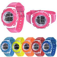 Fashion Kids Girls Boys Sports Watch LED Digital Quartz Alarm Date Wrist Watches