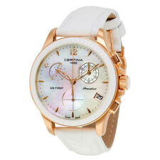 Certina DS First Lady Moon Phase Mother of Pearl Dial Ladies Watch