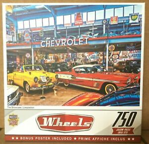 Wheels Jigsaw Puzzle The Showcase 750 pc Collectible w Bonus Poster NEW