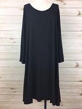 NEW Maurices Women's Plus Size Black LS Large Keyhole Back Hi Lo Dress. Size 3