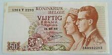 50 Frank 50 Francs 1966 Belgique Belgïe Belgium #F5#