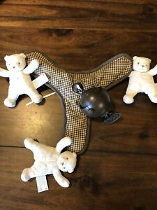 Graco Lovin' Hug Swing Overhead Toy Mobile  Cream Bears Brown Replacement Part