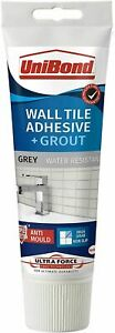 UniBond Ultraforce Wall Tile Adhesive & GROUT- Grey/White/Cream 300g