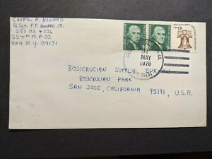 APO 09131 VAIHINGEN, GERMANY 1978 Army Cover 554th MP Co Soldier's Mail