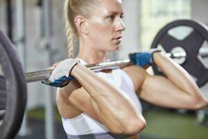 Adidas Womens NEW Climalite Essential Fitness Training Gloves Sz M Patrol Blue