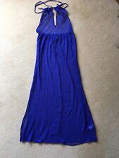 "ASOS ""Swim"" backless royal blue floaty chiffon maxi beach dress size 12"