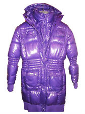 Girl Italian Boutique €240 Puffa Padded Warm Shiny Winter Long Coat Age 8-9 J48