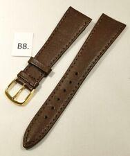B8 - Bracelet montre en cuir brun 20 mm