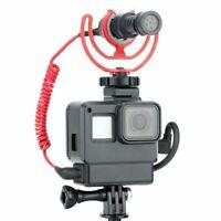 1pc V2 Microphone Adapter Housing Case Frame for GoPro Hero 7 6 5 Black Camera