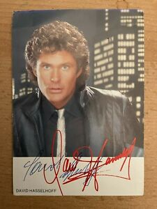 David Hasselhoff Original Autogramm - u.a. Knight Rider . Baywatch