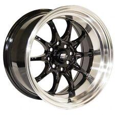 MST MT11 15x8 / 15x9 +0 4x100 4x114.3 Black 240z AE86 Corolla GTS 510 280z  260z