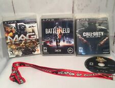 Lot of 3 Sony PlayStation 3 PS3 Games  with Manual And Lanyards Key Chain E20