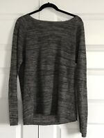 ZARA MAN Mens Crew Neck Linen Blend Heathered Gray Pullover Sweater Sz Large