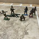 Lot 7 Vintage Metal Soldiers And Indians Some Made In England