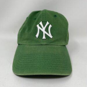 NY YANKEES GREEN MLB BASEBALL CAP HAT ADJUSTABLE IRISH CLOVER 47 Twins
