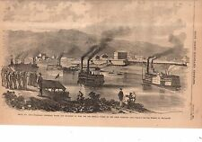 1861 Leslie's - August 17 Union Troops land at Belle Air Ohio on Great Kanawha