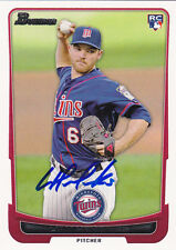 LIAM HENDRIKS MINNESOTA TWINS SIGNED CARD KANSAS CITY ROYALS TORONTO BLUE JAYS