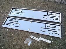 Auto Kennzeichenhalter Nummernschildhalter Rahmen 2 Stück aus Edelstahl
