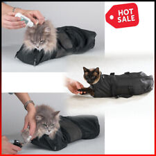 Pet Cat Grooming Nail Clipping Bath Travel Bag No Bite Scratch Restraint System